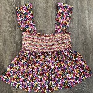 NWOT Urban Outfitters Smocked Floral Top
